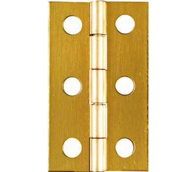 National Hardware N211-300 2 By 1-3/16 Inch Bright Brass Finish Hinges 2 Pack