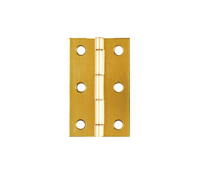 National Hardware N211-318 2-1/2 By 1-9/16 Inch Bright Brass Finish Hinges 2 Pack