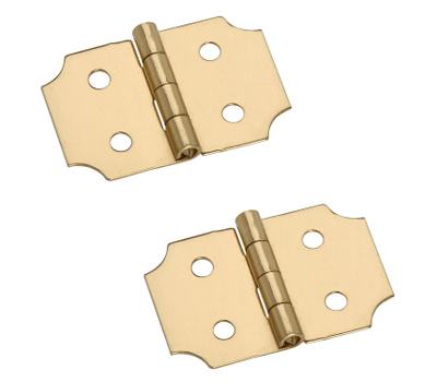 National Hardware N211-441 S803-350 5/8 By 1 Inch Bright Brass Finish Decorative Hinges 2 Pack