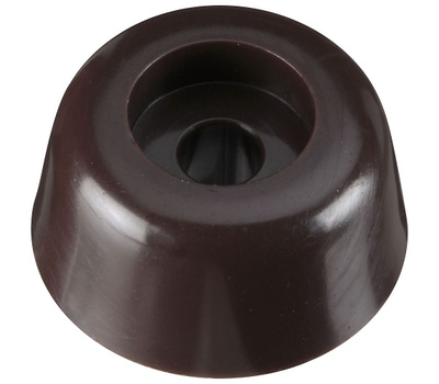 National Hardware N225-367 Round Screw-In Bumper Brown 3/4 Inch 4 Pack