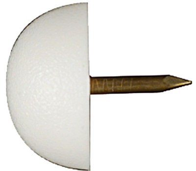 National Hardware N225-417 Round Tack In Bumper White 3/4 Inch