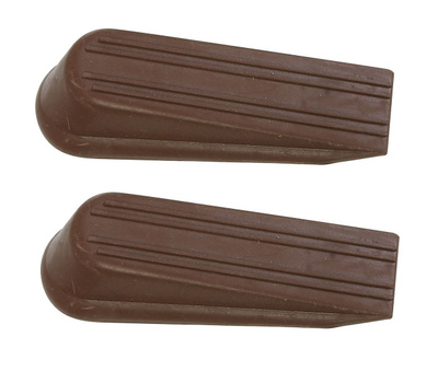 National Hardware N225-987 Traditional Wedge Door Stops 1-1/4 By 4 Inch Brown 2 Pack