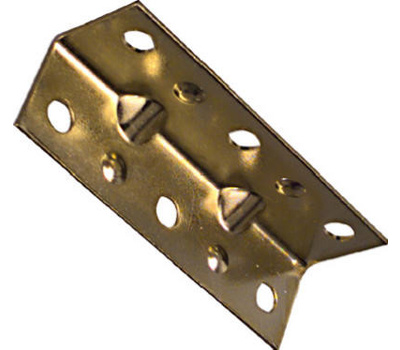 National Hardware N226-266 Wide Inside Corner Braces 2-1/2 By 3/4 By 0.04 Inch Brass Finish Steel 4 Pack