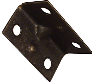 National Hardware N226-282 Wide Inside Corner Braces 1-1/2 By 3/4 By 0.04 Inch Antique Brass Finish Steel 4 Pack