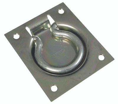 National Hardware N226-894 N203-752 S763-865 S574-800 S763-863 Flush Ring Pulls Zinc Plated Steel 3 By 3-1/2 Inch