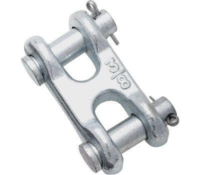 National Hardware N240-887 N240-857 Double Clevis Link Zinc Plated Steel 3/8 Inch