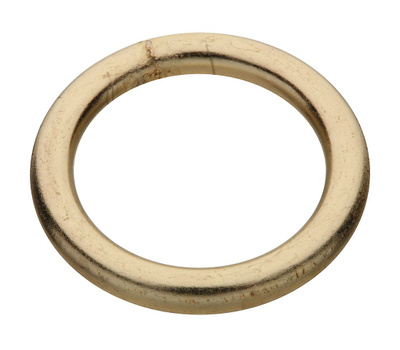 National Hardware N244-103 Welded Ring #4 By 1-1/4 Inch Brass Plated Steel