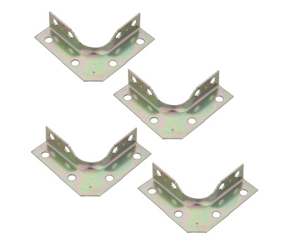 National Hardware N245-720 Wrap Corner Braces 2-1/2 By 5/8 Inch Zinc Plated Steel 4 Pack