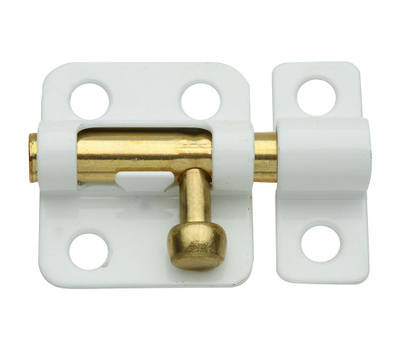 National Hardware N248-492 2 Inch White Window Bolt