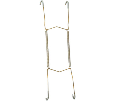 National Hardware N259-960 Plate Hanger 5-1/2 To 8 Inch Brass Plated Steel