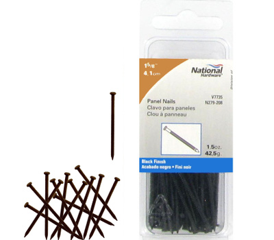 National Hardware N279-208 Panel Nails 1-5/8 Inch Black