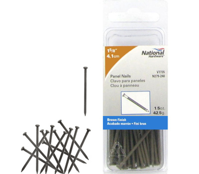 National Hardware N279-240 Panel Nails 1-5/8 Inch Brown
