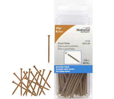 National Hardware N279-265 1 5/8 Inch Dark Oak Panel Nails