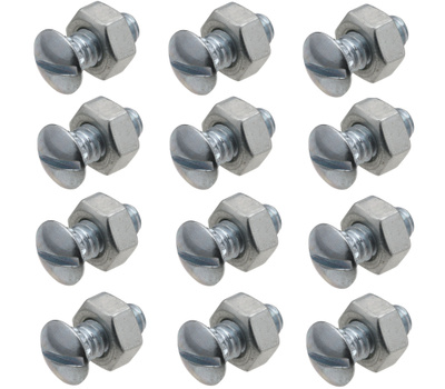 National Hardware N280-875 Ribbed Neck Bolts And Nuts 1/4 Inch 20 TPI 1/2 Inch Zinc Plated Steel 12 Pack