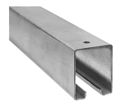 National Hardware N281-469 Barn Door Track Box Style 36 Inch Trolley Rail Galvanized Steel