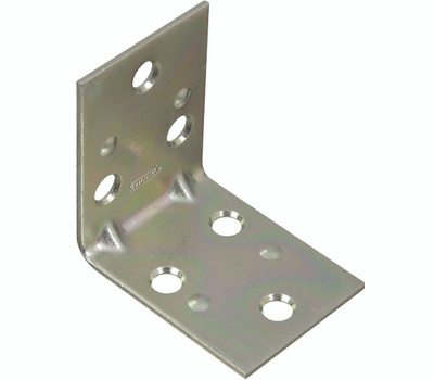 National Hardware N285-528 Double Wide Corner Brace 2 By 1-1/2 By 0.07 Inch Zinc Plated Steel Bulk
