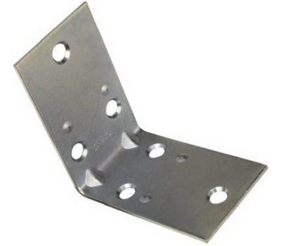 National Hardware N285-569 Double Wide Corner Braces 2-1/2 By 1-1/2 By 0.07 Inch Zinc Plated Steel 2 Pack