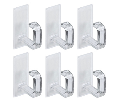 National Hardware N308-148 Clear Cup Hooks 6 Pack