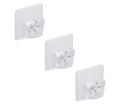 National Hardware N308-155 Small Household Hooks Clear 3 Pack