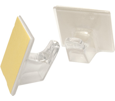 National Hardware N308-171 Large Clear Plastic Adhesive Hook 2 Pack