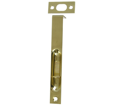 National Hardware N327-684 N197-954 S803-998 Square Corner Recessed Flush Bolt 6 Inch Polished Solid Brass