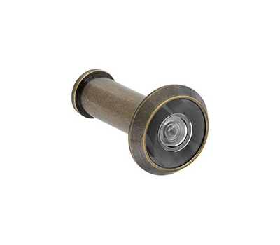 National Hardware N336-107 Door Viewer 200 Degree Wide Angle Solid Brass Antique Brass