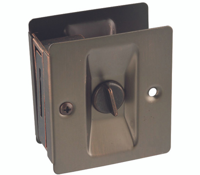 National Hardware N336-412 Privacy Notched Pocket Door Latch Solid Brass Antique Bronze
