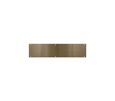National Hardware N336-628 Push Plate 3-1/2 By 15 Inch Antique Brass Anodized Aluminum