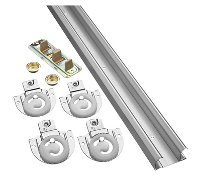 National Hardware N343-061 By-Passing Adjustable Door Hardware Kit 48 Inch Galvanized Steel