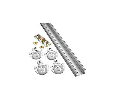 National Hardware N343-079 S403-150 By-Passing Adjustable Door Hardware Kit 60 Inch Galvanized Steel