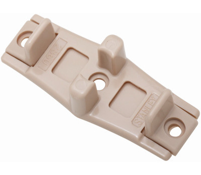 National Hardware N344-846 By-Passing Sliding Door Floor Guides Tan Plastic