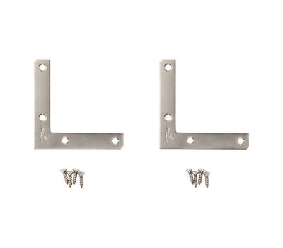 National Hardware N348-342 4 By 3/4 Inch Stainless Steel Flat Corner Brace
