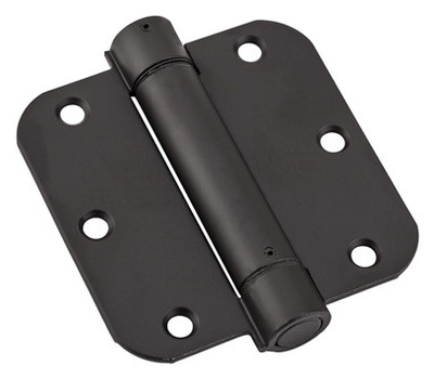 National Hardware N350-884 S849-778 Spring Door Hinge 3-1/2 Inch 5/8 Radius Oil Rubbed Bronze