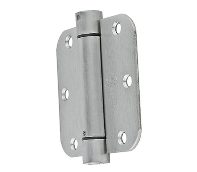 National Hardware N350-892 Spring Door Hinge 3-1/2 Inch 5/8 Radius Satin Nickel