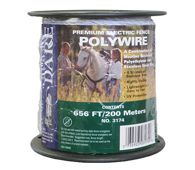 Dare 3174 200Mmx 656 Foot WHT Poly Wire