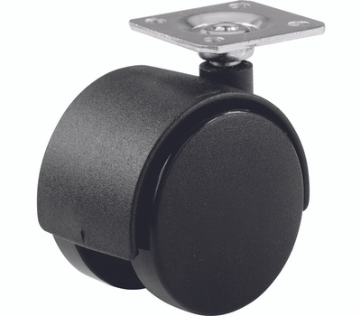 Shepherd Hardware 9417 2 Iinch Twin Wheel Swivel Plate Casters Black 2 Pack