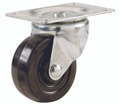 Shepherd Hardware 9480 4 Inch Rubber Wheel Swivel Plate Caster