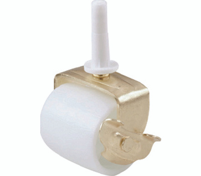 Shepherd Hardware 9536 2-1/8 Inch Swivel Stem Mounted Bed Casters With Brake White 2 Pack