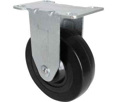Shepherd Hardware 9659 4 Inch Rubber Wheel Rigid Plate Caster