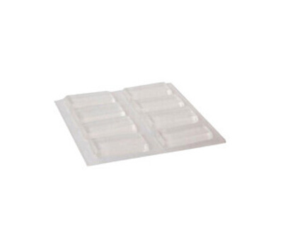 Shepherd Hardware 9963 Adhesive Bumper Clear 1/2 By 1In 8 Pack