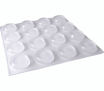 Shepherd Hardware 9967 Surface Gard 1/2 Inch Round Self Adhesive Clear Vinyl Bumpers 16 Pack
