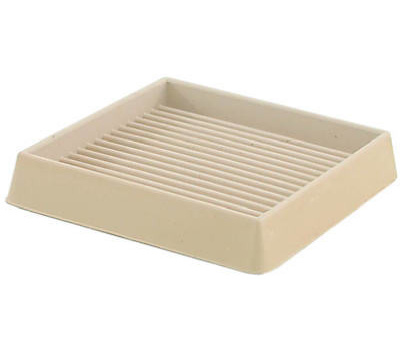 Shepherd Hardware 19168 3 Inch Square Furniture Cups Off White 2 Pack