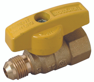 Brass Craft PSSL-12 Plumb Shop Gas Valve Straight 3/8 Inch Od Tube 1/2 Inch F