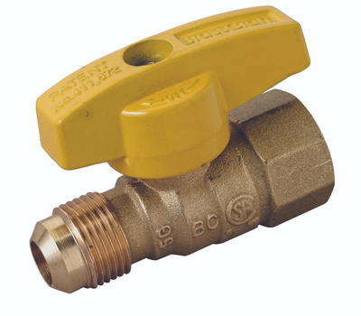 Brass Craft PSSD-41 Plumb Shop Gas Ball Valve Straight 1/2 By 1/2 Inch Od