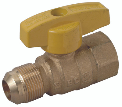 Brass Craft PSSC-60 Plumb Shop Gas Ball Valve 3/4 By 5/8 Inch Od