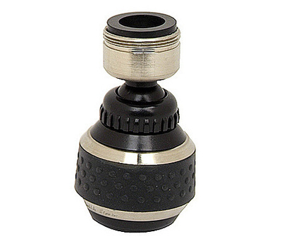 Brass Craft SF0331 Double Swivel Spray Faucet Aerator Brushed Nickel & Black Finish Dual Thread