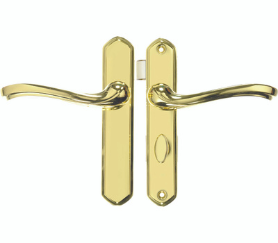 Hampton Wright VCA112PB Castellan Storm Door Latch Set Polished Brass
