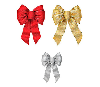 Holiday Trims 6166 XMAS Glit Wired Bow