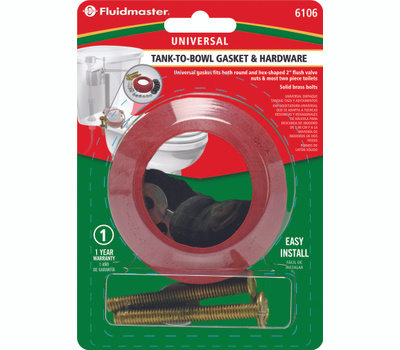 Fluidmaster 6106 Gasket Tank To Bowl W Bolts