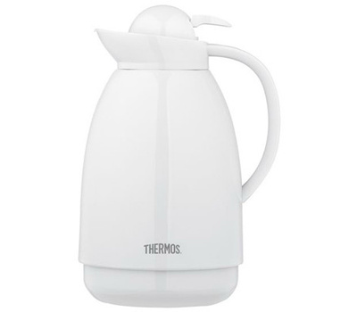 thermos 710tri4 34 ounce wht glass carafe - Glass Thermos